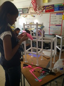 Patrice works on her Paper Roller coaster!