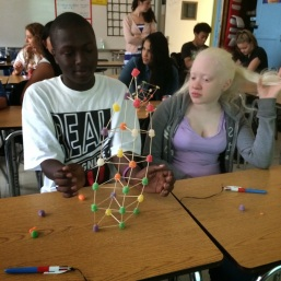 Thomas and Brittney build a tower
