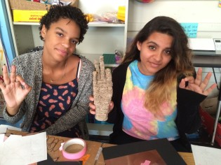 Kacey and Hannah created a stackform OK hand