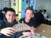 Calvin + Theo bridge load = 55kgs!