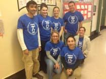 math teachers celebrating PI DAY 2013
