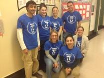 math teachers celebrating PI DAY 2013